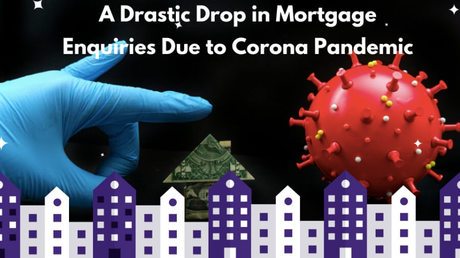 drop in mortgage enquiries